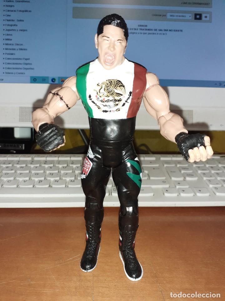 FIGURA PRESSING CATCH WWF JAKKS PACIFIC DE 2003. ALTURA 18 CMS. RARA (Juguetes - Figuras de Acción - Pressing Catch)