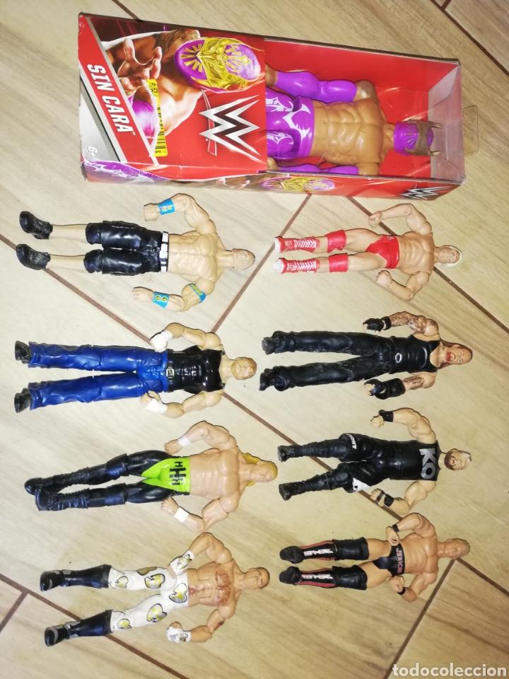"""Figuras y Muñecos Pressing Catch: luchadores de la WWF DE PRESINNG CATCH... AÑOS 2000..UNO EN CAJA PRECINTADA.... LOTE DE """""""" 9"""" """" .. - Foto 5 - 245006720"""
