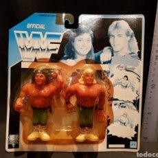 Figuras y Muñecos Pressing Catch: FIGURAS WWF LOS ROCKEROS SHAWN MICHAELS Y MARTY JANNETY. HASBRO. 1991. PRODUCTO LICENCIADO.. Lote 245163025