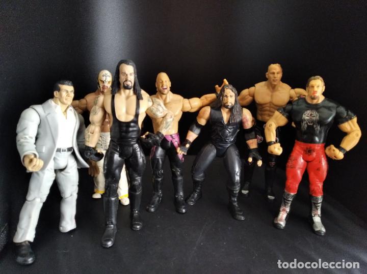 LOTE DE 7 WRESTLERS WWE WWF - PRESSING CATCH - FIGURAS PARA CUSTOMIZAR (Juguetes - Figuras de Acción - Pressing Catch)