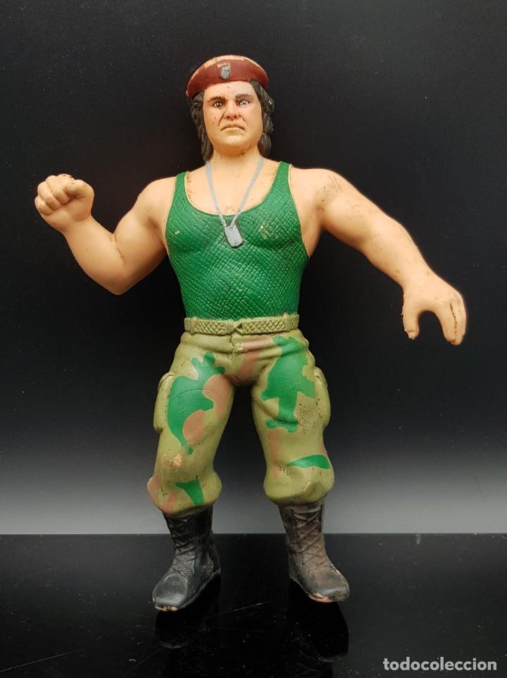 VINTAGE TITAN SPORTS WWF LJN CORPORAL KIRCHNER 1986 RUBBER WRESTLER (Juguetes - Figuras de Acción - Pressing Catch)