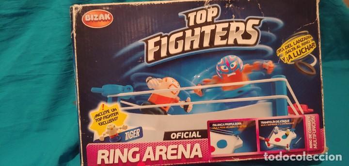 Figuras y Muñecos Pressing Catch: LOTE JUEGO DE MESA TOP FIGHTERS OFICIAL, RING ARENA BIZAK MUÑECOS UNO PRECINTADO. - Foto 2 - 248364950