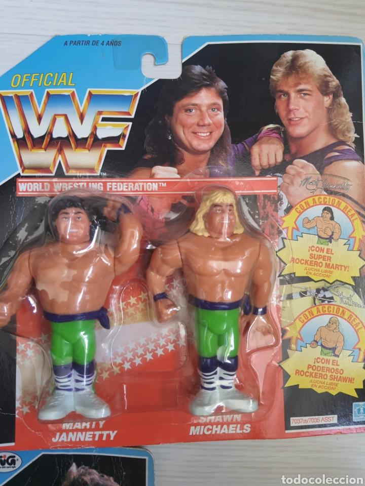 Figuras y Muñecos Pressing Catch: LOTE INCREIBLE DE FIGURAS ORIGINALES HASBRO WWF WWE LUCHA LIBRE AÑOS 1990-1991 - Foto 3 - 252320690