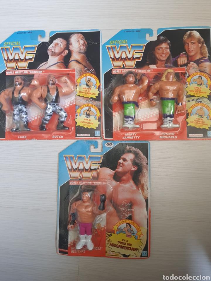 LOTE INCREIBLE DE FIGURAS ORIGINALES HASBRO WWF WWE LUCHA LIBRE AÑOS 1990-1991 (Juguetes - Figuras de Acción - Pressing Catch)