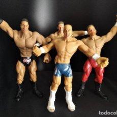 Figuras y Muñecos Pressing Catch: LOTE DE 4 FIGURAS FLEX EM'S- FIGURAS ELASTICAS WWE WWF JAKKS- KURT ANGLE, THE ROCK, TRIPLE H, BENOIT. Lote 254703615