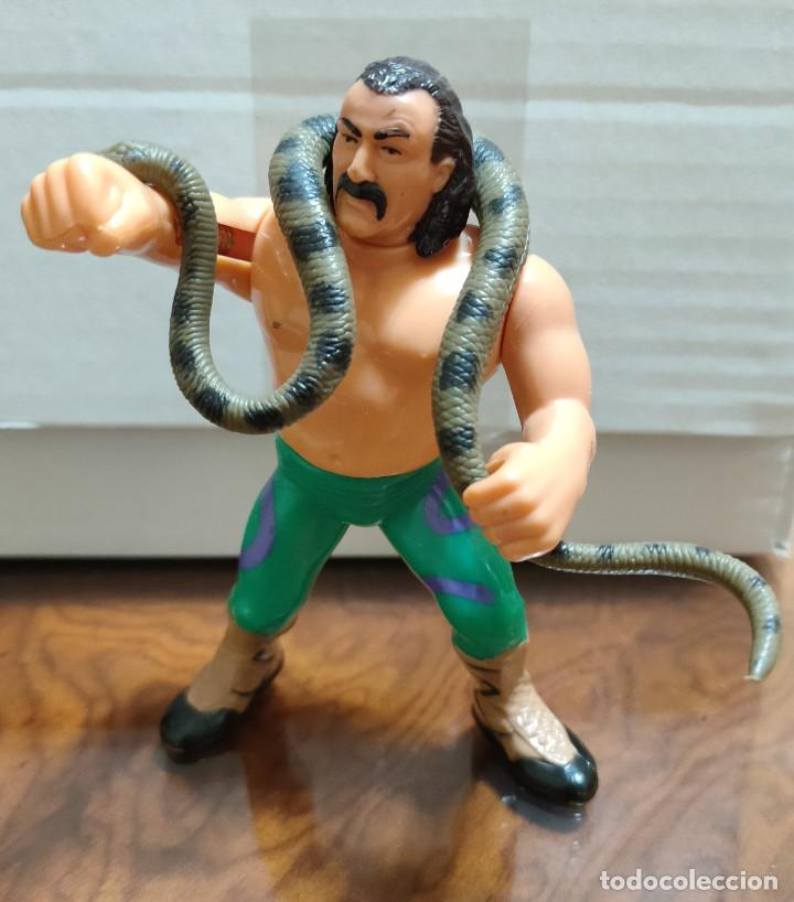 """MUÑECO JAKE """"SNAKE"""" ROBERTS PRESSING CATCH WWF (HASBRO AÑOS 90) (Juguetes - Figuras de Acción - Pressing Catch)"""