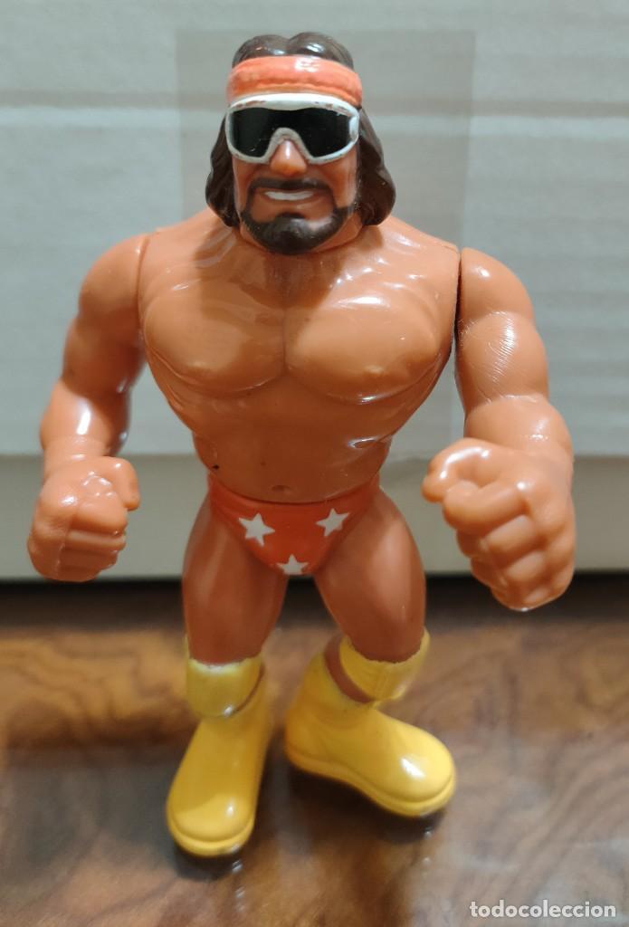 MUÑECO MACHO MAN RANDY SAVAGE PRESSING CATCH WWF (HASBRO AÑOS 90) (Juguetes - Figuras de Acción - Pressing Catch)