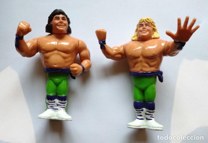 MUÑECOS THE ROCKERS (SHAWN MICHAELS Y MARTY JANNETTY) PRESSING CATCH WWF (HASBRO AÑOS 90) (Juguetes - Figuras de Acción - Pressing Catch)