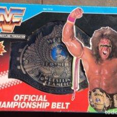 Figuras y Muñecos Pressing Catch: MASTERS 1990 HASBRO VINTAGE: WWF CINTURÓN CHAMPIONSHIP PRESSING CATCH EN CAJA DE ALMACÉN WWE. Lote 275572753