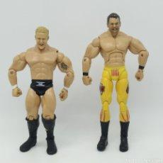 Figuras y Muñecos Pressing Catch: WWE JAKKS PACIFIC MR. KENNEDY (2004) Y CHRIS BENOIT (2005) COLECCIÓN DELUXE AGRESION. Lote 285160193