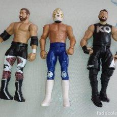 Figuras y Muñecos Pressing Catch: LOTE 3 FIGURAS DE LUCHA WWE DE MATTEL. Lote 288559993