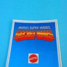 Figuras y Muñecos Secret Wars: MARVEL SUPER HEROES SECRET WARS CATALOGO FIGURAS MATTEL 1984. Lote 62122452