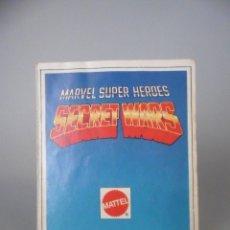 Figuras y Muñecos Secret Wars: MARVEL SUPER HEROES SECRET WARS CATALOGO FIGURAS MATTEL 1984. Lote 62122620