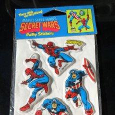 Figuras y Muñecos Secret Wars: MARVEL SUPER HEROES SECRET WARS PUFFY STICKERS 1984. Lote 62122940