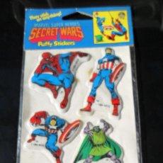 Figuras y Muñecos Secret Wars: MARVEL SUPER HEROES SECRET WARS PUFFY STICKERS 1984. Lote 62123008