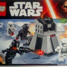 Figuras y Muñecos Secret Wars: LEGO STAR WARS 75132 FIRST ORDER BATTLE PACK NEW FACTORY 4 FIGURES INCLUDED. Lote 74158371