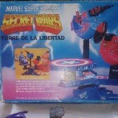 Figuras y Muñecos Secret Wars: LOTE SECRET WARS TORRE DE LA LIBERTAD VEHÍCULO Y 2 FIGURAS . Lote 88611568