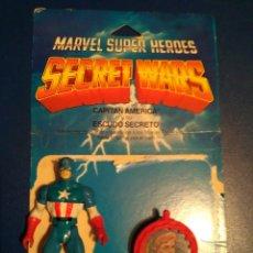 Figuras y Muñecos Secret Wars: MATTEL MARVEL SUPERHEROES SECRET WARS CAPITAN AMERICA +BLISTER ESPAÑOL + ESCUDO. Lote 102574623