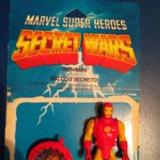 Figuras y Muñecos Secret Wars: MATTEL MARVEL SUPERHEROES SECRET WARS IRON MAN +BLISTER ESPAÑOL +ESCUDO. Lote 102574759