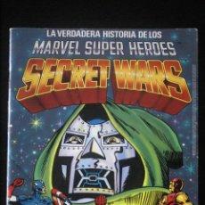 Figuras y Muñecos Secret Wars: SECRET WARS LA VERDADERA HISTORIA DE LOS MARVEL SUPER HÉROES.CATÁLOGO MATTEL.LIBRO FICHAS.COMO NUEVO. Lote 137846150