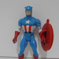 Figuras y Muñecos Secret Wars: FIGURA, CAPITAN AMERICA, SECRET WARS, CON SU PROPÌO ESCUDO, MARVEL, MATTEL, FRANCE 1984. Lote 143704070