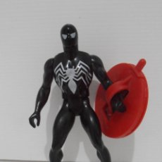 Figuras y Muñecos Secret Wars: FIGURA, BLACK SPIDERMAN NEGRO, SECRET WARS, CON ESCUDO, MARVEL, MATTEL, FRANCE 1985. Lote 143706226