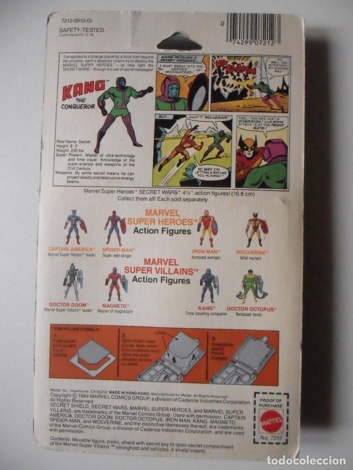 Figuras y Muñecos Secret Wars: MARVEL SECRET WARS KANG EN BLISTER MATTEL 1984 - Foto 3 - 148333046