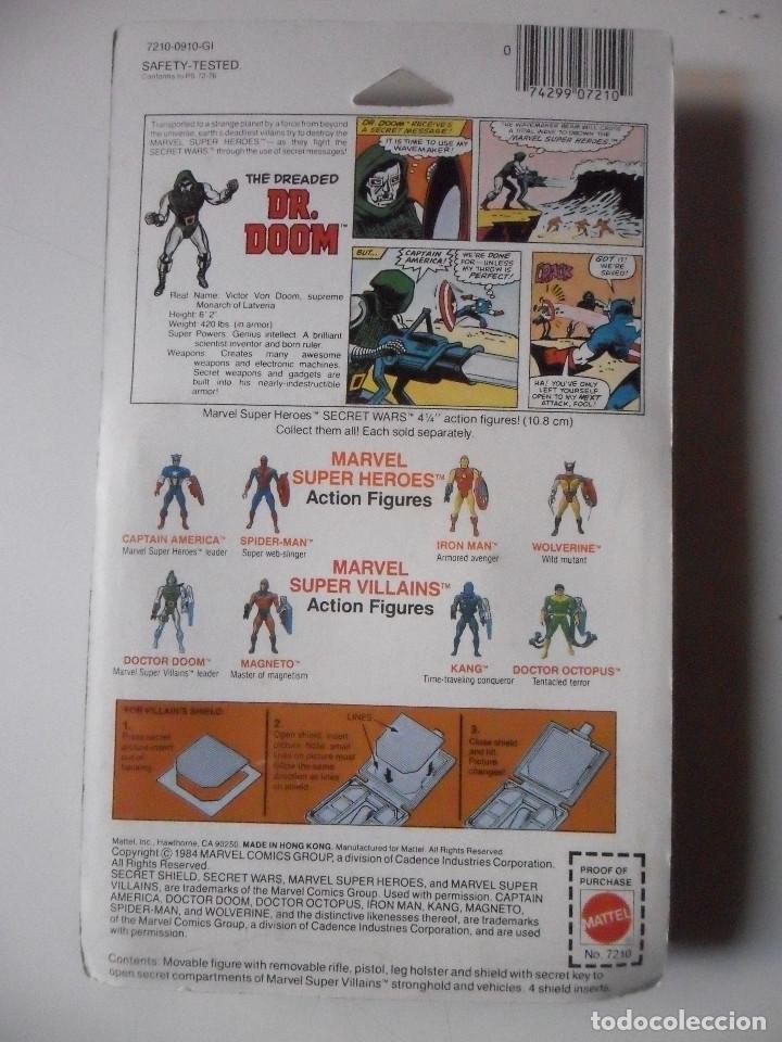 Figuras y Muñecos Secret Wars: MARVEL SECRET WARS DOCTOR DOOM EN BLISTER MATTEL 1984 - Foto 5 - 149190266