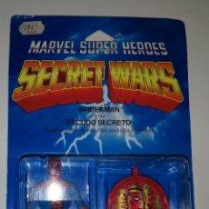 Figuras y Muñecos Secret Wars: SECRET WARS SPIDERMAN Y SU ESCUDO SECRETO. Lote 151901450