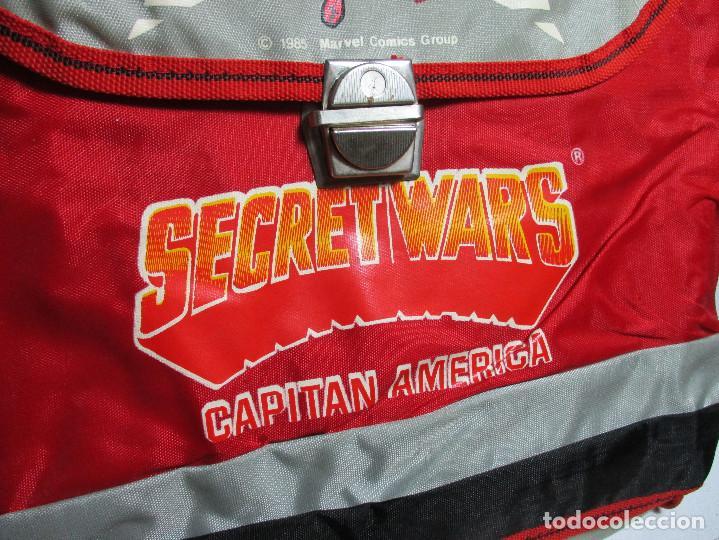 Figuras y Muñecos Secret Wars: Antigua mochila escolar, cartera, bolsa, SECRET WARS, CAPITÁN AMÉRICA, MARVEL, JOSMAN 1985 - Foto 3 - 161022490