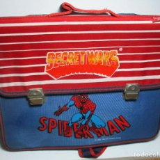 Figuras y Muñecos Secret Wars: ANTIGUA MOCHILA ESCOLAR, CARTERA, BOLSA, SECRET WARS, SPIDERMAN, MARVEL, JOSMAN 1985. Lote 161022630