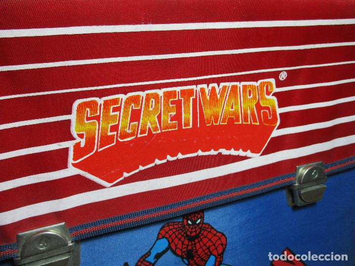 Figuras y Muñecos Secret Wars: Antigua mochila escolar, cartera, bolsa, SECRET WARS, SPIDERMAN, MARVEL, JOSMAN 1985 - Foto 2 - 161022630