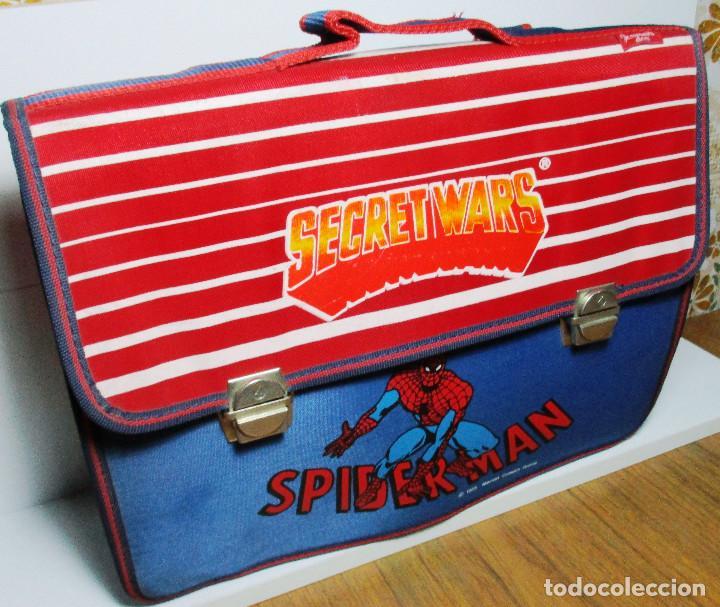 Figuras y Muñecos Secret Wars: Antigua mochila escolar, cartera, bolsa, SECRET WARS, SPIDERMAN, MARVEL, JOSMAN 1985 - Foto 5 - 161022630