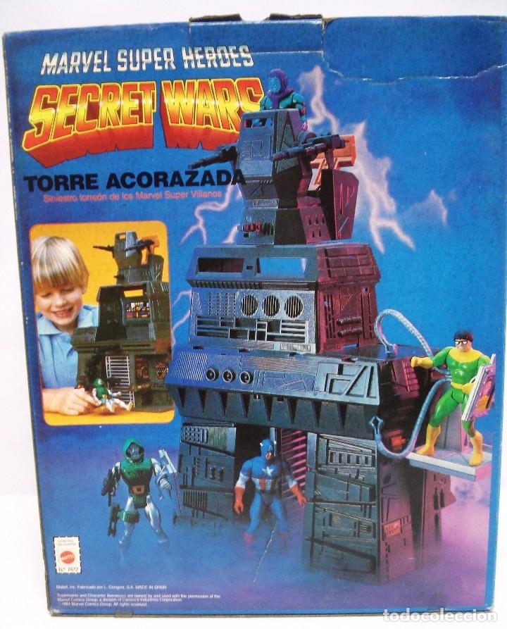 Figuras y Muñecos Secret Wars: MARVEL SECRET WARS: TORRE ACORAZADA. AÑOS 80, NUEVA, SIN ESTRENAR. SIN ABRIR. CAJA MUY BIEN. - Foto 8 - 131516698