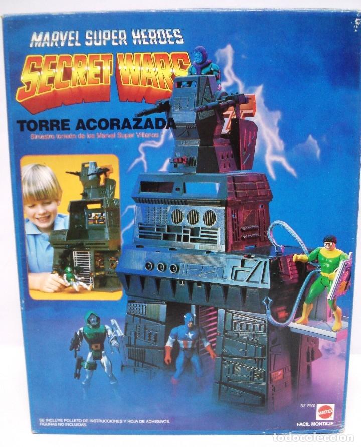 Figuras y Muñecos Secret Wars: MARVEL SECRET WARS: TORRE ACORAZADA. AÑOS 80, NUEVA, SIN ESTRENAR. SIN ABRIR. CAJA MUY BIEN. - Foto 9 - 131516698