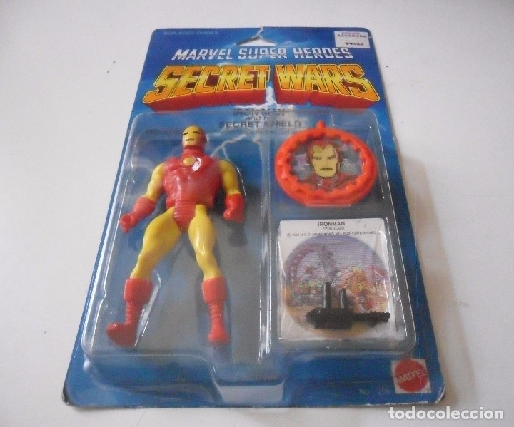 Figuras y Muñecos Secret Wars: MARVEL SECRET WARS IRON MAN EN BLISTER MATTEL 1984 - Foto 5 - 172214574