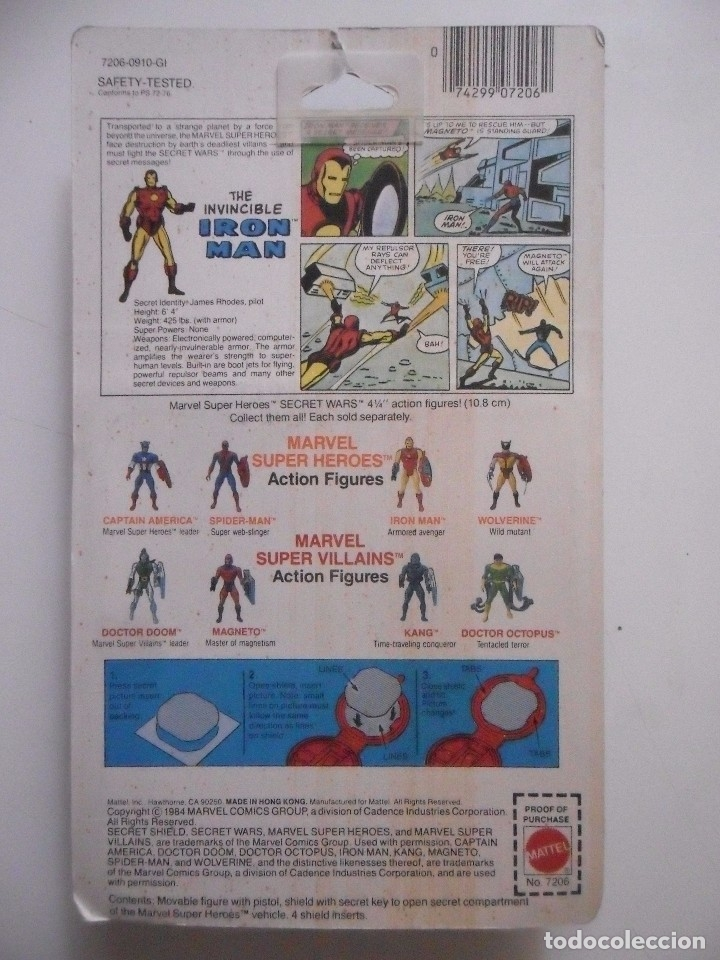 Figuras y Muñecos Secret Wars: MARVEL SECRET WARS IRON MAN EN BLISTER MATTEL 1984 - Foto 8 - 172214574