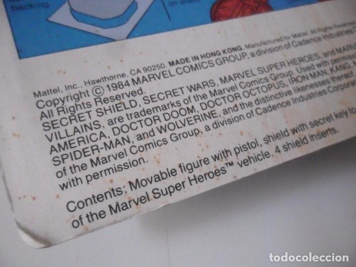 Figuras y Muñecos Secret Wars: MARVEL SECRET WARS IRON MAN EN BLISTER MATTEL 1984 - Foto 10 - 172214574