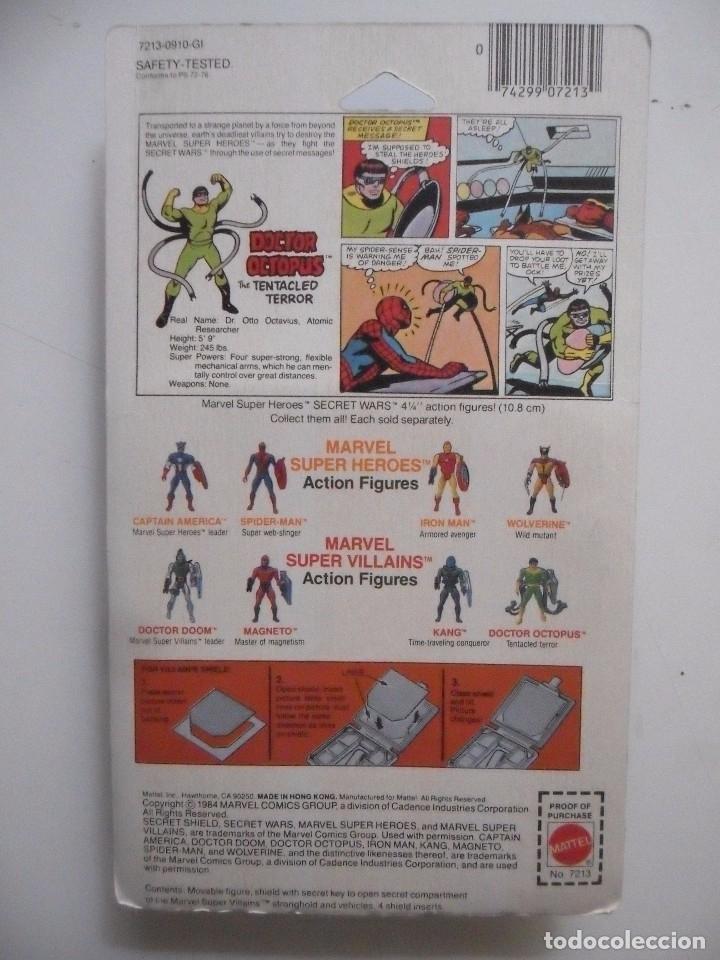 Figuras y Muñecos Secret Wars: MARVEL SECRET WARS DOCTOR OCTOPUS EN BLISTER MATTEL 1984 - Foto 8 - 172214709