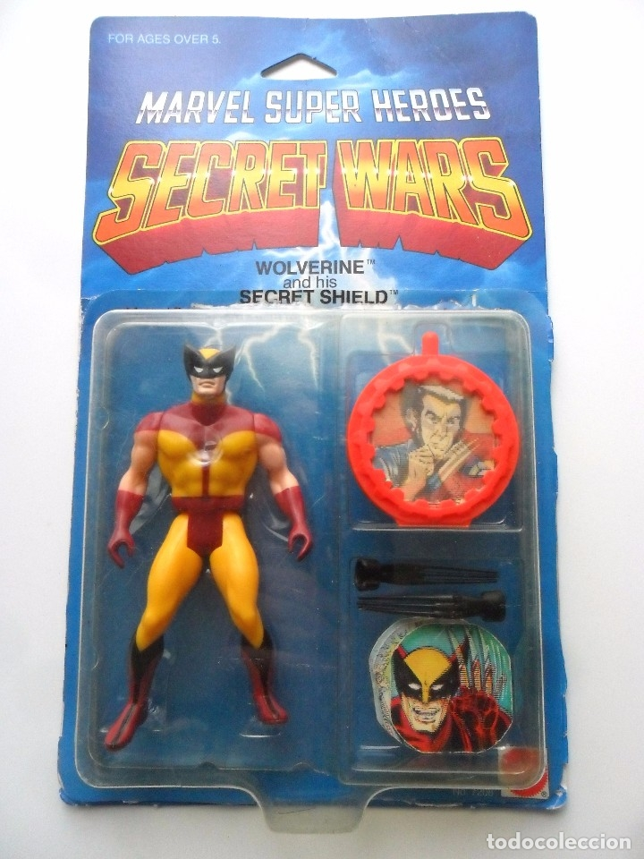 MARVEL SECRET WARS WOLVERINE BLACK CLAWS EN BLISTER ABIERTO MATTEL 1984 (Juguetes - Figuras de Acción - Secret Wars)