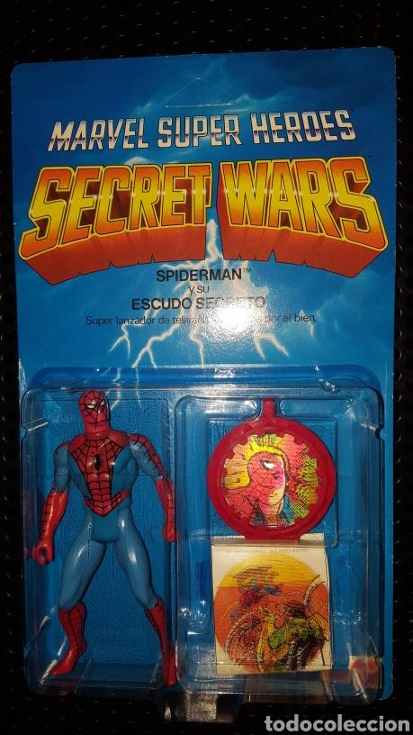 FIGURA - MARVEL SUPER HEROES - SECRET WARS - SPIDER-MAN - SPIDERMAN - MATTEL - CON BLISTER CERRADO (Juguetes - Figuras de Acción - Secret Wars)