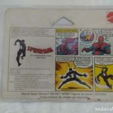 Figuras y Muñecos Secret Wars: FICHA SECRET WARS/BLACK SPIDER-MAN/MATTEL MARVEL SUPER HEROES.. Lote 179311398