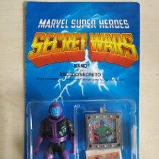 Figuras y Muñecos Secret Wars: BLISTER ESPAÑOL SECRET WARS KANG MARVEL SUPER HEROES NUEVO AÑO 1985 MATTEL. Lote 184845206