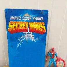 Figuras e Bonecos Secret Wars: FIGURA ACCION SPIDERMAN SECRET WARS CON BLISTER ESPAÑOL,ESCUDO Y 1 HOLOGRAMA. Lote 186439922