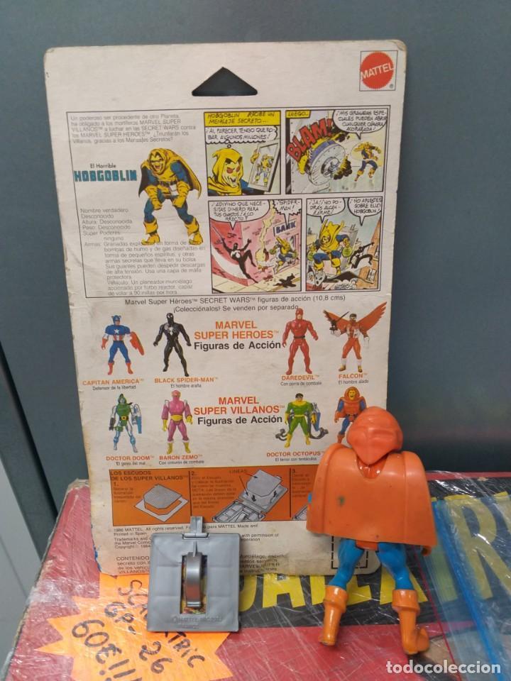 Figuras y Muñecos Secret Wars: figura de accion hobgoblin duende secret wars blister español,escudo y 1 holograma marvel - Foto 5 - 186441258