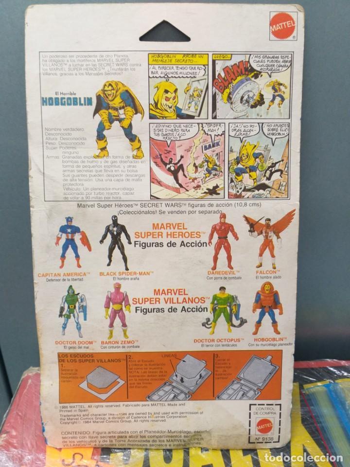 Figuras y Muñecos Secret Wars: figura de accion hobgoblin duende secret wars blister español,escudo y 1 holograma marvel - Foto 7 - 186441258