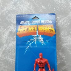 Figuras e Bonecos Secret Wars: FIGURA DE ACCION DAREDEVIL SECRET WARS BLISTER ESPAÑOL Y ESCUDO. Lote 186441498
