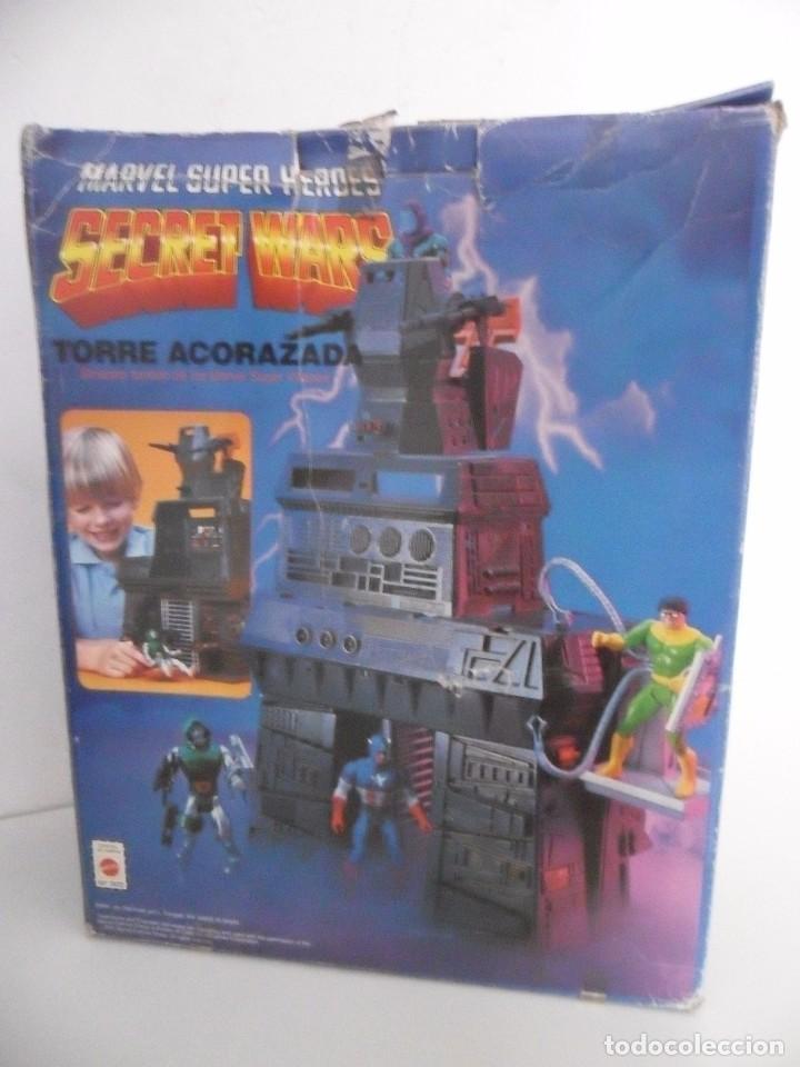 MARVEL SUPER HEROES SECRET WARS TORRE ACORAZADA CON CAJA MATTEL 1984 (Juguetes - Figuras de Acción - Secret Wars)