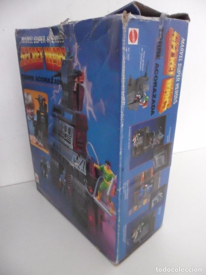 Figuras y Muñecos Secret Wars: MARVEL SUPER HEROES SECRET WARS TORRE ACORAZADA CON CAJA MATTEL 1984 - Foto 2 - 195217270