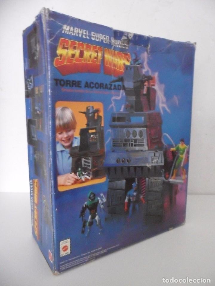 Figuras y Muñecos Secret Wars: MARVEL SUPER HEROES SECRET WARS TORRE ACORAZADA CON CAJA MATTEL 1984 - Foto 3 - 195217270